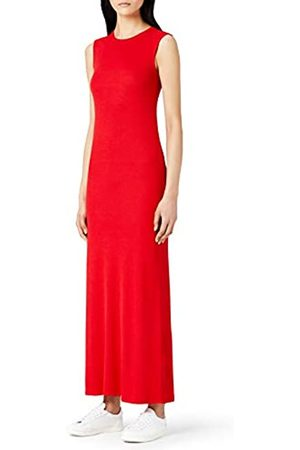 MERAKI Women's Slim Fit Rib Summer Maxi Dress