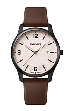 Wenger Mens Analogue Quartz Watch with Silicone Strap 01.1441.124