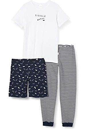 Schiesser Boys' Yellow Mouse Kn Schlafanzug 3-Teilig Pyjama Sets