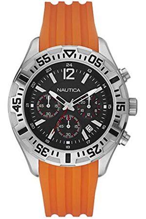 Nautica Mens Chronograph Quartz Watch with Silicone Strap A17666G