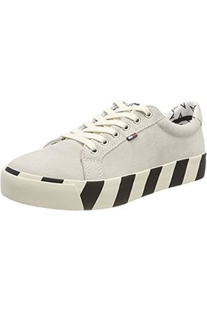 Tommy Jeans Women's Suede Sneaker Low-Top, (Ice 101)