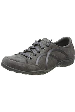 Skechers Women Trainers - Women's BREATHE-EASY - WELL READ Sneakers, (Charcoal Micro Leather/Trim Ccl)
