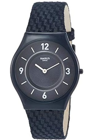 Swatch Unisex Analogue Classic Quartz Watch with Leather Strap SFN123
