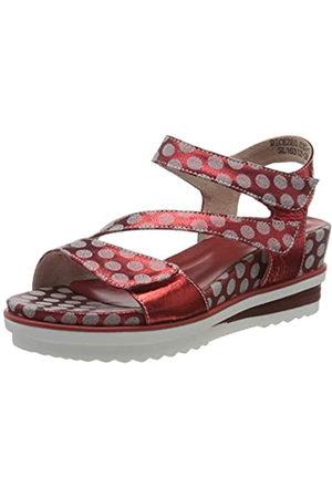 LAURA VITA Women's Dicezeo 032 Platform Sandals, (Rouge Rouge)