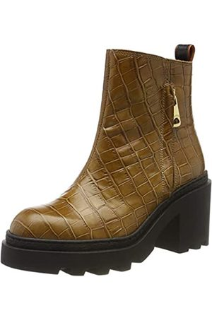 SCOTCH & SODA FOOTWEAR Women's Calista Ankle Boots, (Taupe Croco Optics S281)