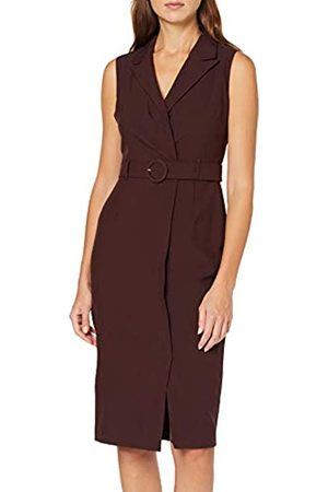 Dorothy Perkins Women's Utility Belted Dress Chocolate