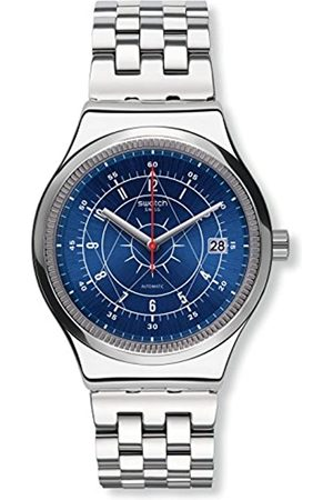 Swatch Mens Analogue Automatic Watch with Stainless Steel Strap YIS401G