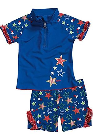 Playshoes Girl's UV-Schutz Bade-Set Sterne Swimsuit
