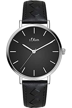 s.Oliver Womens Analogue Quartz Watch with Leather Strap SO-3842-LQ