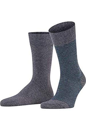 ESPRIT Men Contrasty Piqué 2-Pack Socks - 85% Cotton (Cinder 3553), UK 8.5-11 (Manufacturer size: 43-46)