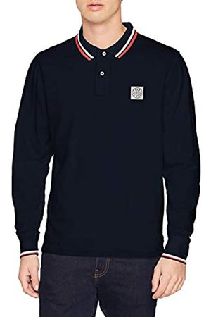 Tommy Hilfiger Men's Solid Texture Badge Ls Reg Polo Long Sleeve Top