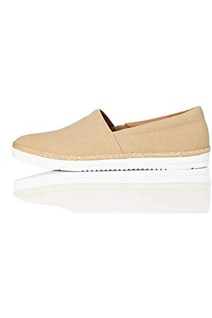 find. Jute Slip On Espadrille Wedge Sandal, Braun (Washed Sand)