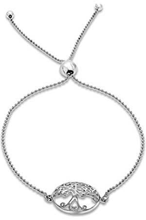 Tuscany Silver Rhodium Plated Sterling Sliding Adjustable Bracelet