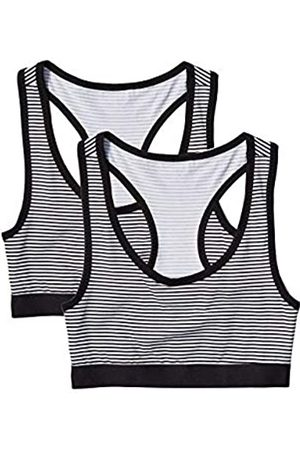 IRIS & LILLY Amazon Brand - Women's Crop Top in Cotton with Racerback, Pack of 2