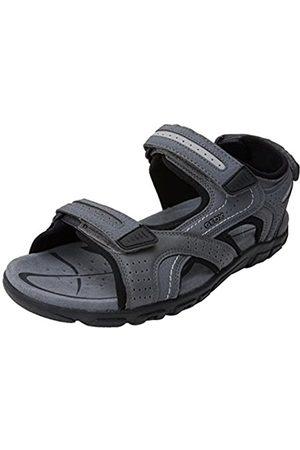 Geox Men's Uomo Sandal Strada D Ankle Strap, (Stone/Lt )