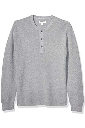 Goodthreads Soft Cotton Henley Sweater Heather