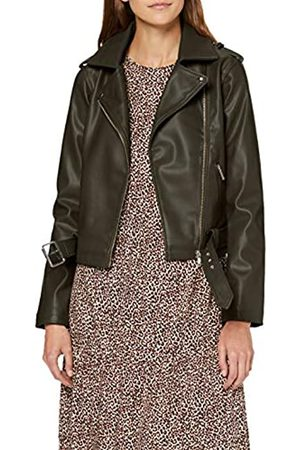 New Look Women's Faith Belted PU Biker Jacket