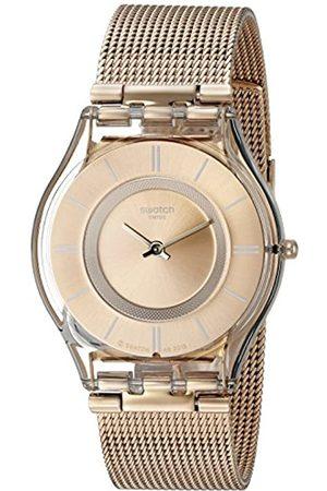 Swatch Unisex Analogue Swiss Quartz Watch with Rose Bracelet – SFP115M