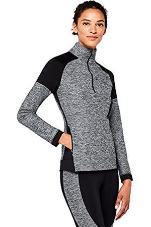 AURIQUE Amazon Brand - Women's Half Zip Funnel Neck Sports Jacket, 10