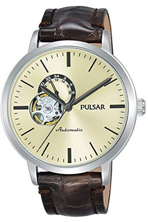 Pulsar Mens Analogue Automatic Watch with Leather Strap P9A007X1