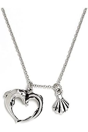 Silver Willow Chrysalis Rhodium plate Aphrodite's heart adjustable length charm necklace. Wear your necklace, with its sweet shell charm