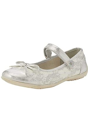 Lico Women's Arabella V Ankle Strap Ballet Flats, (Silber)