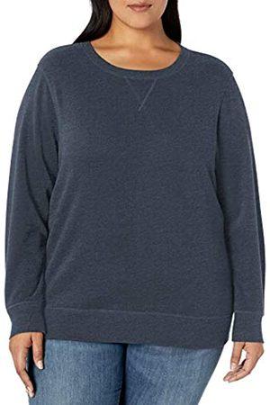 Amazon Plus Size French Terry Fleece Crewneck Sweatshirt Hooded