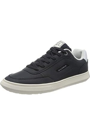 Tommy Hilfiger Men's Essential Court Leather Sneaker Low-Top, (Desert Sky Dw5)