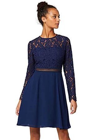 TRUTH & FABLE Amazon Brand - Women's Mini Lace A-Line Dress, 16
