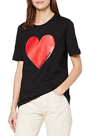Love Moschino Women's Short Sleeve Jersey T-Shirt_Heart Print & Italic Logo
