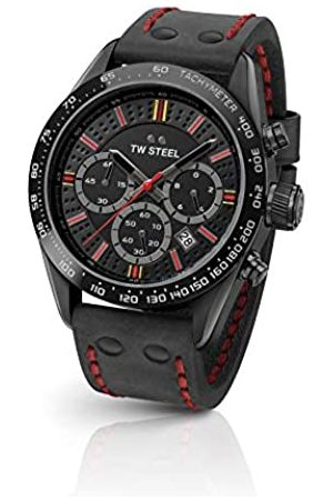 TW steel Unisex Adult Chronograph Quartz Watch with Leather Strap TW987