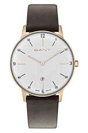 Gant Mens Analogue Quartz Watch with Leather Strap 7630043918715