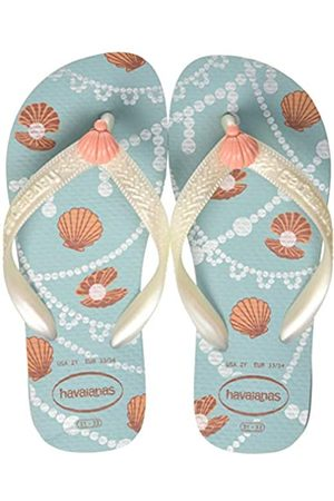 Havaianas Girls' Fantasy Flip Flops, (Ice /Mermaid 7712)