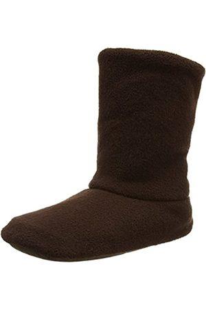 Woolsies Unisex Adults' Vagabond-Natural Wool and Fleece-Woolmark Certified Hi-Top Slippers, (Camel )
