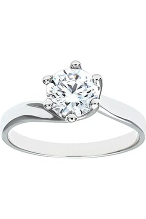 Citerna 9ct Stone Set Solitaire Ring - Size P