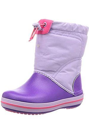 Crocs Kids' Crocband LodgePoint Boot Snow, (Lavender/Neon 5p8)