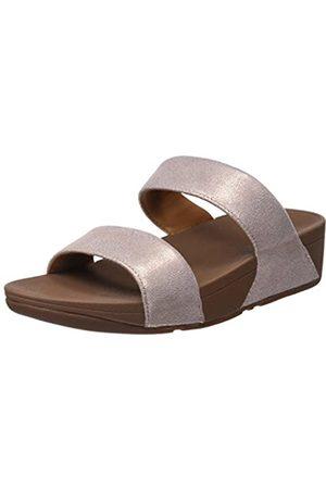 FitFlop Women's SHIMMY SUEDE Platform Sandals, (Rose 323)
