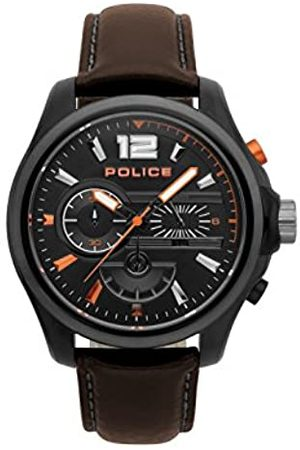 Police Mens Chronograph Quartz Watch with Leather Strap PL.15403JSBU/02