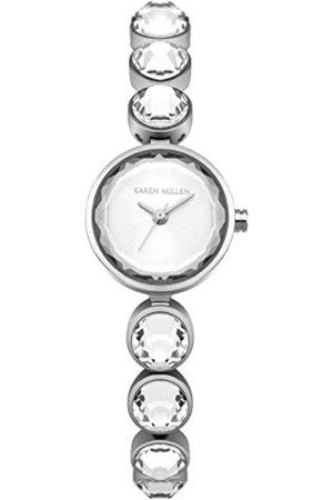 KAREN MILLEN Womens Analogue Classic Quartz Watch with Stainless Steel Strap KM149SM