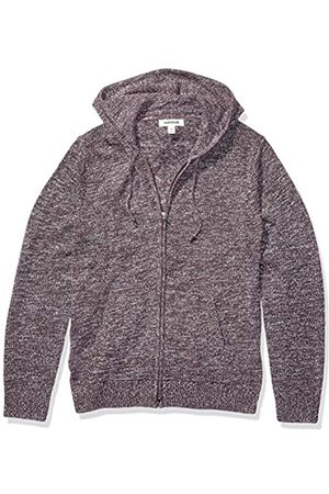 Goodthreads Supersoft Marled Fullzip Hoodie Sweater Burgundy