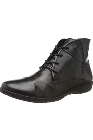 Josef Seibel Lina 06 Womens Leather Matt Ankle Boots In Black Size UK 3-8