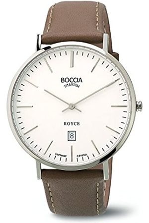 Boccia Men's Quartz Watch with Dial Analogue Display and Leather Strap B3589-01