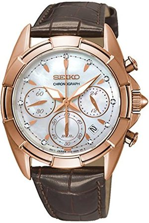 Seiko Women's Chronograph Quartz Watch with Leather Strap SRW784P1