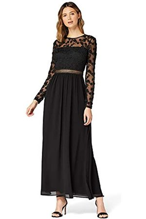 TRUTH & FABLE Amazon Brand - Women's Maxi Lace A-Line Dress, 12