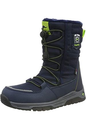 KangaROOS Unisex Kids' K-Sergeant RTX Snow Boots, (Dk Navy/Lime 4054)