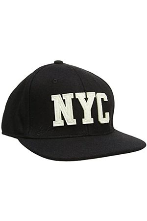 Schott NYC Men's Wool Cap Felt Logo Visor