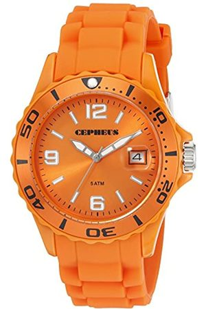 CEPHEUS Men's Quartz Watch with Dial Analogue Display and Silicone Strap CP603-090E-1