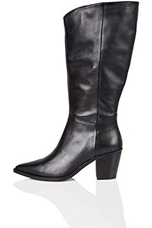 FIND Amazon Brand - Knee High Pull On Leather Western Boots, )