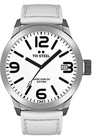 TW steel Mens Analogue Quartz Watch with Leather Strap TWMC43