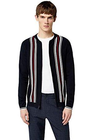 FIND Amazon Brand - PHKN228 129 Mens Cardigans (Navy)